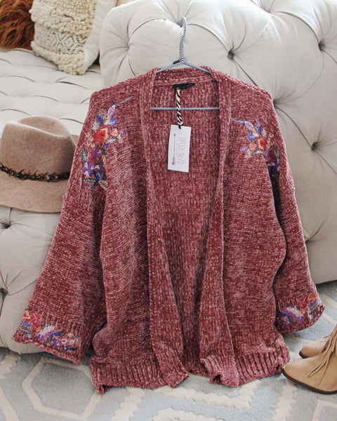 Flora Valley Sweater in Mauve: Featured Product Image