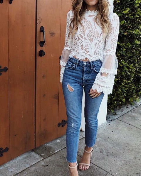 Florence Lace Top: Featured Product Image