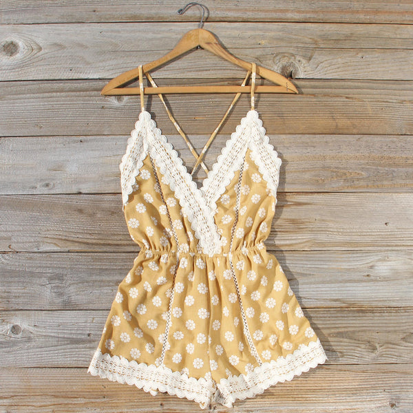 Flower Child Lace Romper: Featured Product Image