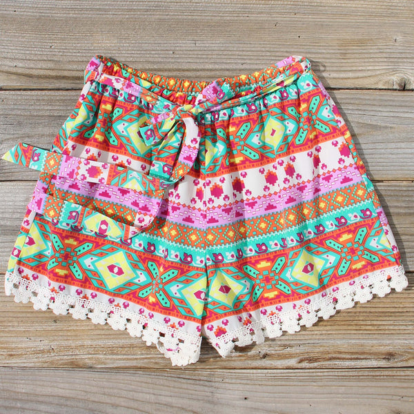 Flowerchild Lace Shorts: Featured Product Image