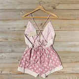 Flower Child Lace Romper in Desert: Alternate View #4