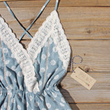 Flower Child Lace Romper in Sage: Alternate View #2