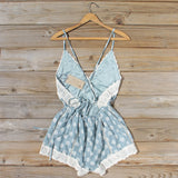 Flower Child Lace Romper in Sage: Alternate View #4