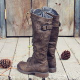 The Flurry & Smoke Boots in Khaki: Alternate View #3