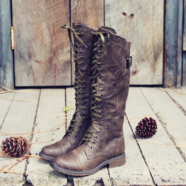 The Flurry & Smoke Boots in Khaki: Featured Product Image