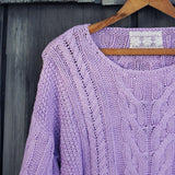 Misty Lake Fisherman's Sweater: Alternate View #2