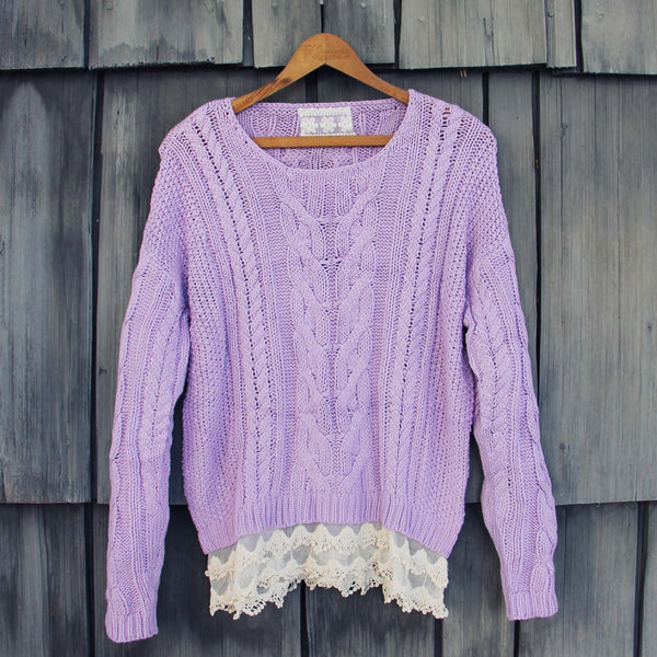 Misty Lake Fisherman's Sweater: Featured Product Image