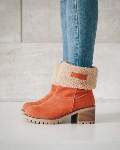 Fold Over Booties in Rust