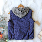 Forest Smoke Hooded Vest in Navy: Alternate View #4
