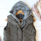 Forest Smoke Hooded Vest in Olive: Alternate View #2