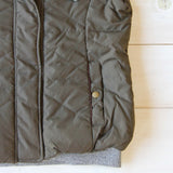 Forest Smoke Hooded Vest in Olive: Alternate View #3
