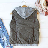 Forest Smoke Hooded Vest in Olive: Alternate View #4