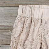 Fortunate Lace Pants in Sand: Alternate View #2