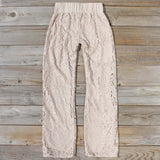 Fortunate Lace Pants in Sand: Alternate View #4
