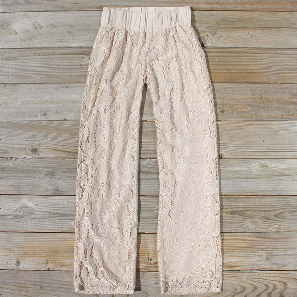 Fortunate Lace Pants in Sand: Featured Product Image