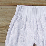 Fortunate Lace Pants in White: Alternate View #2