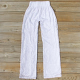 Fortunate Lace Pants in White: Alternate View #4