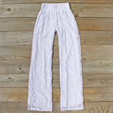 Fortunate Lace Pants in White: Alternate View #1
