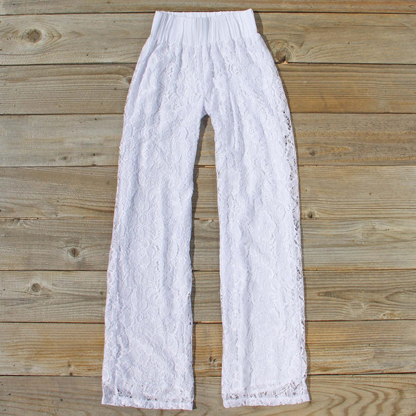 Fortunate Lace Pants in White: Featured Product Image