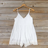Fortune Teller Romper in White: Alternate View #1
