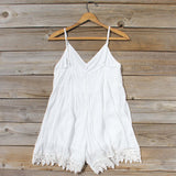 Fortune Teller Romper in White: Alternate View #4