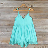 Fortune Teller Romper in Mint: Alternate View #1