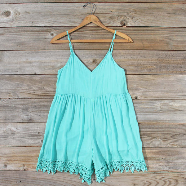 Fortune Teller Romper in Mint: Featured Product Image
