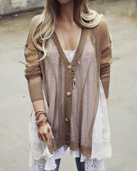 Fox & Lace Sweater: Featured Product Image