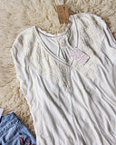 Free People Abigail Tee in White: Alternate View #3