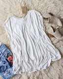 Free People Abigail Tee in White: Alternate View #4
