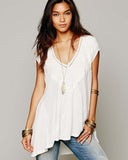 Free People Abigail Tee in White: Alternate View #2