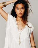 Free People Abigail Tee in White: Alternate View #5