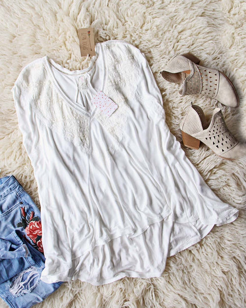 Free People Abigail Tee in White: Featured Product Image