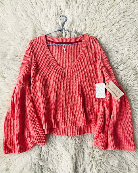 Free People Coral Moon Summer Sweater: Featured Product Image
