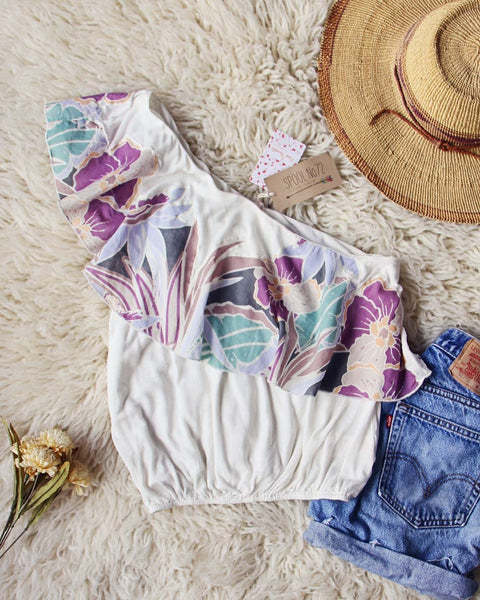Free People Maui Ruffle Top in White: Featured Product Image