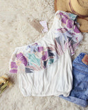 Free People Maui Ruffle Top in White: Alternate View #3