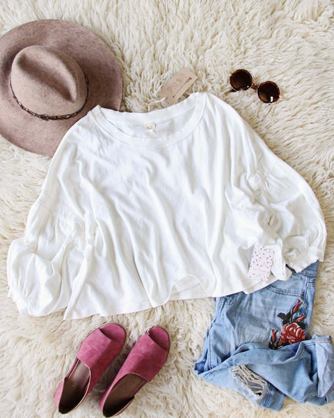 Free People Sugar Rush Tee in White: Featured Product Image