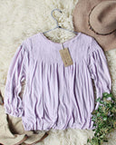 Free People Sweet Begonia Tee in Lilac: Alternate View #3