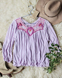 Free People Sweet Begonia Tee in Lilac: Alternate View #1