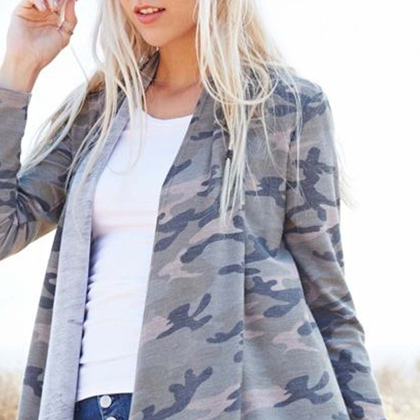 The French Camo Cardigan: Featured Product Image