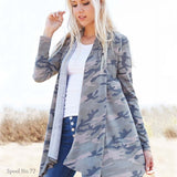 The French Camo Cardigan: Alternate View #2
