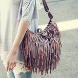 Canyon Fringe Tote in Gray: Alternate View #3