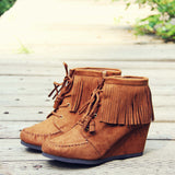 Wild & Wander Moccasins in Brown: Alternate View #1