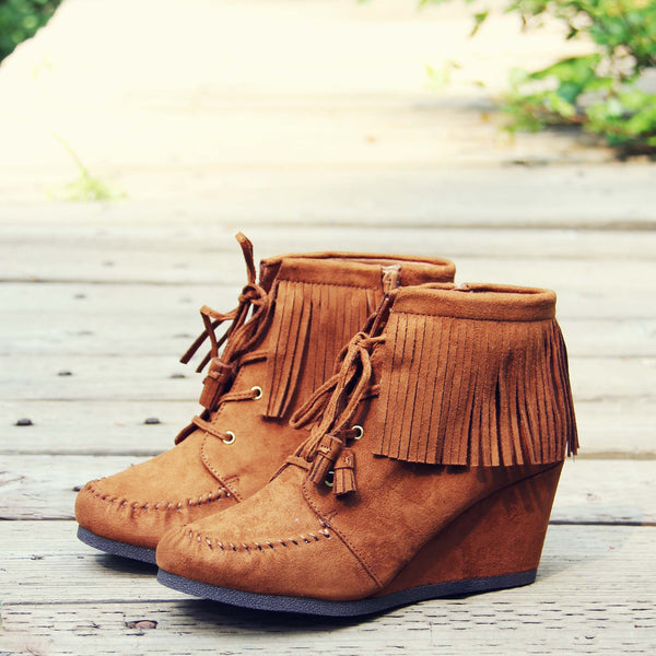 Wild & Wander Moccasins in Brown: Featured Product Image