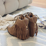 Fringe Walker Booties: Alternate View #2