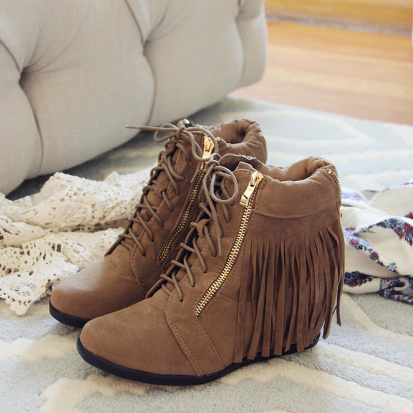 Fringe Walker Booties: Featured Product Image