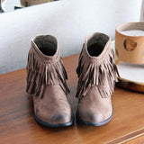 Fringed Horizon Booties: Alternate View #2