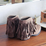 Fringed Horizon Booties: Alternate View #3