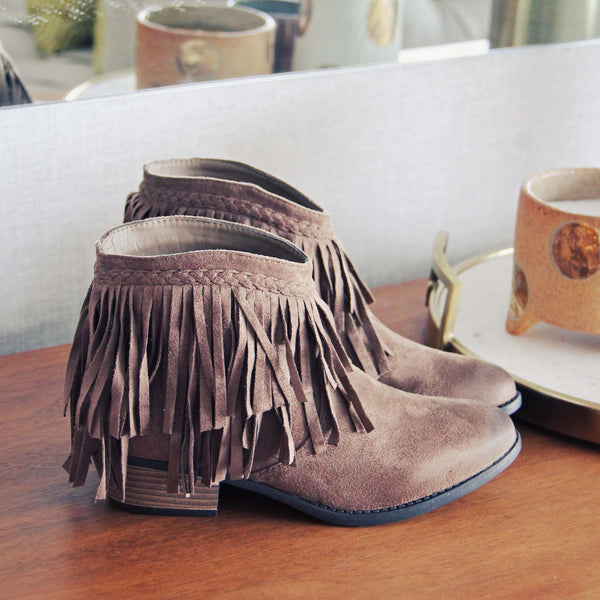 Fringed Horizon Booties: Featured Product Image