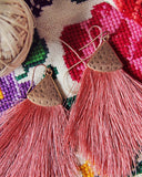 Desert Fringe Earrings in Pink: Alternate View #2